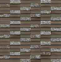 Sparkle Series Taupe Small Subway Mosaic Tiles - Backsplash Tile/bathroom Tile