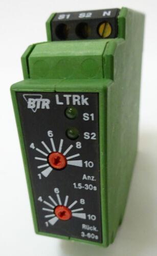 BTR LTRk Lüftertimerrelais Messrelais Überwachungsrelais LTRk-E12 230V 6A UNUSED