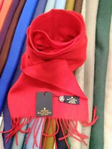 100% Pure Cashmere Scarf by the House of Balmoral | Bright Red | Plain Colour