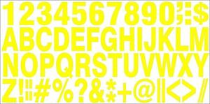 1-SET-OF-SELFADHESIVE-YELLOW-VINYL-LETTERS-amp-NUMBERS-HIGH-1-034-INDOOR-OUTDOOR-USE