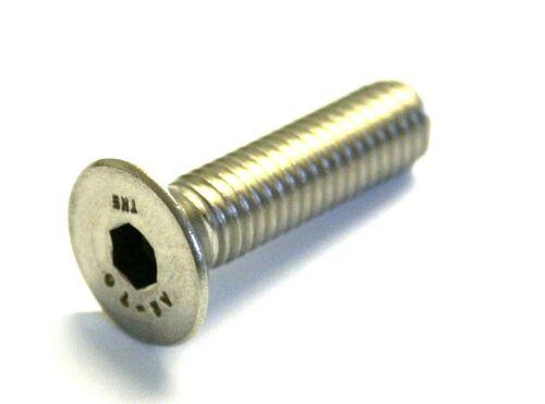 M6 x 16 Socket BULLONI svasati CSK Allen VITI INOX A2 CONFEZIONE 10 DIN 7991