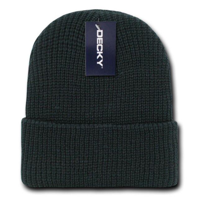 5ee39b7ebf45f Black GI Watch Cap Beanie Hat Ski Military Warm Winter Cuff Knit Hats  Beanies