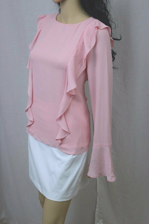 Lauren by Ralph Lauren Ladies Keyhole Blouse With RufflesNWT
