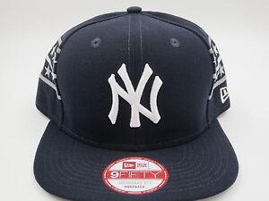 NY-Yankees-Blue-Throwback-Vintage-Retro-New-Era-9FIFTY-MLB-Snapback-Hat-Cap