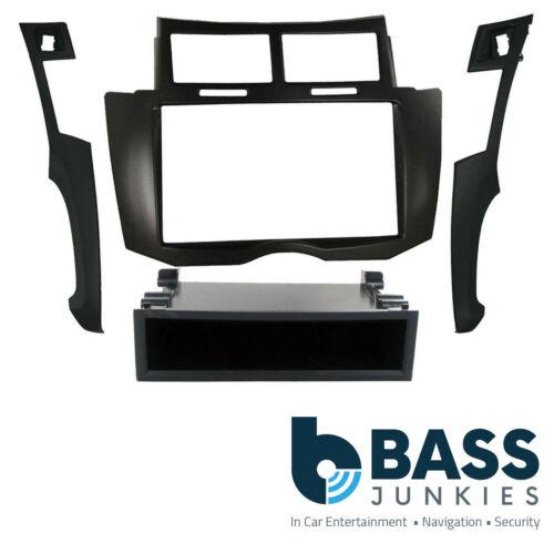 For A Toyota Yaris MK2 2007 Car Stereo Radio Black Single Din Fascia Facia Panel