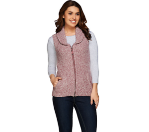 fa640ef3b90 Liz Claiborne New York Heritage Zip Front Sweater Vest BLACK Color ...