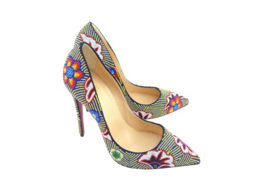 59 Beaded Multi Louboutin Christian Off Taos Miss 120 Rrp coloured YFYwq0U