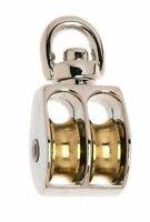 (10) Campbell Chain B7655302 Rope Pulley Swivel Rigid Double Sheave 3/4 25 Lbs.