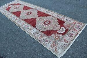 FREE-SHIPPING-Vintage-Handmade-Turkish-Oushak-Runner-Rug-11-039-10-034-x3-039-11-034