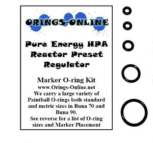 Pure-Energy-HPA-Reactor-Preset-Regulator-Paintball-O-ring-Oring-Kit-x-2-rebuilds