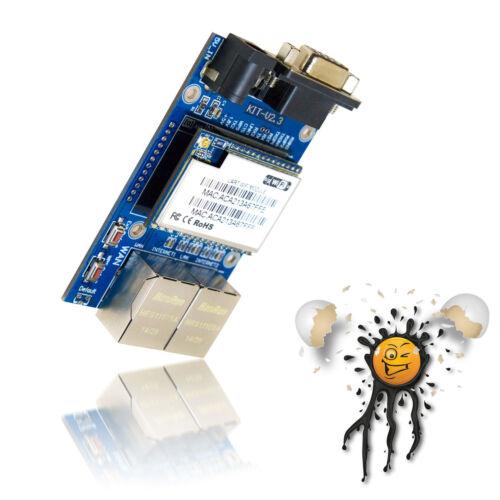 32mb RAM OpenWrt optimizado Wi-Fi LAN Wan UART rs232 router Board-serial to Net