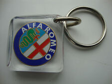 RARE**ALFA ROMEO* KEY RING* SEE THRU PLASTIC* oem/34589*KEY FOB* TOP QUALITY*NEW