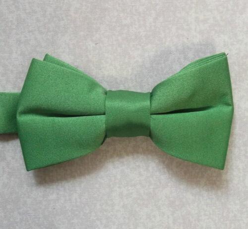 Boys Bow Tie Adjustable Bowtie UNISEX Boy Girl GREEN