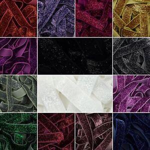 Glitter-Elastic-14-Colours-15mm-5-8-034-Soft-Shiny-Baby-Headband-Fold-Over-Tutu