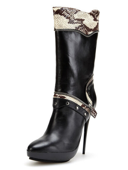 1875 Tabitha Simmons biker Stiefel Stiefel Stiefel high heels with zipper real snakeskin  1,875. 80d9cc