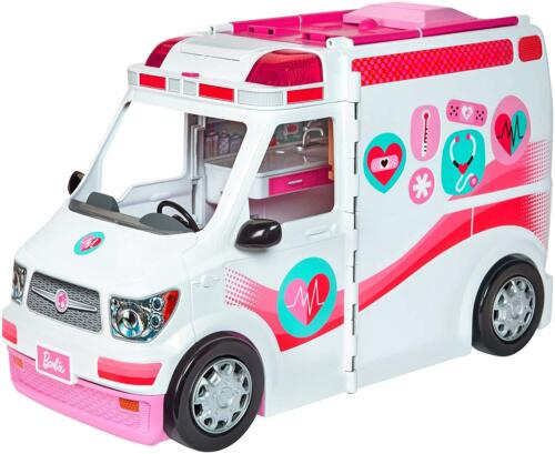 Barbie Care Clinic Vehicle Ambulance Truck Hospital Playset X-Ray Machine Toys