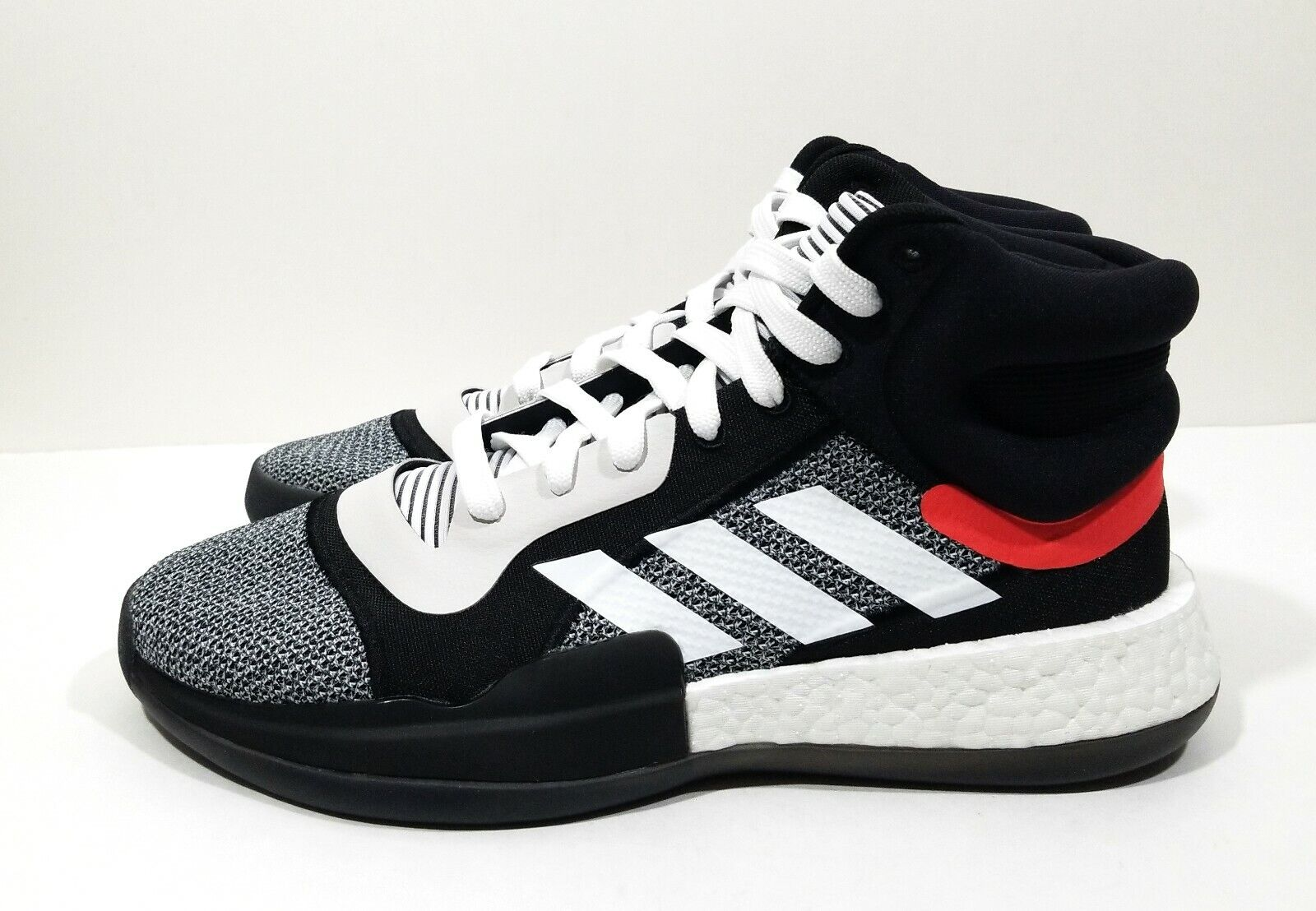Adidas Marquee Boost Mens Basketball shoes Black White Size 9