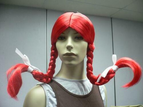 Wendy Burger perruque Pigtails Rouge