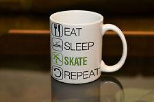 EAT SLEEP Ice Skate Sublimation Mug Birthday Gift Sport Hobby Personalised Name