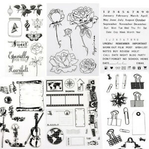 1X Alphabet Kaisercraft Silicone Clear Rubber Stamp Cling Diary Scrapbooking DIY