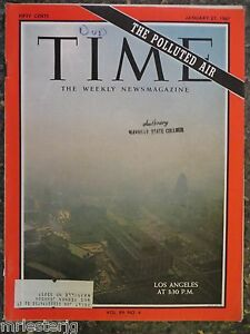 Image is loading Time-Magazine-January-27-1967-Los-Angeles-Smog-