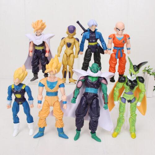 8Pcs Dragonball Z Dragon Ball DBZ  PVC Action Figures Kids Toys Vegeta Piccolo
