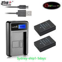 2xen-el14 Battery+usb Lcd Charger For Nikon D5100 D3200 D3100 P7000 P7100 Auship