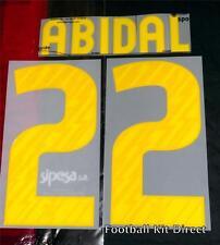 Barcelona Abidal 22 2010/11 Football Shirt Name/Number Set Home Player Size