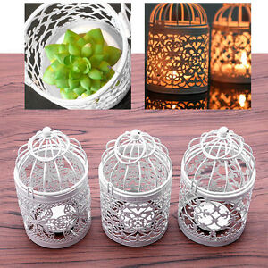 Metal-Hollow-Candle-Holder-Tealight-Candlestick-Hanging-Lantern-Bird-Cage-ME