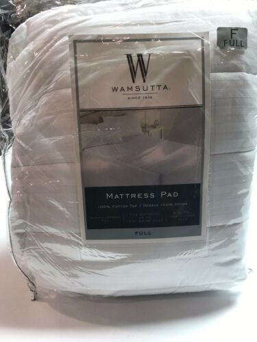 Mattress Bed Pad Top Bedding Wamsutta Dobby Stripe Soft Comfort Protector Sleep