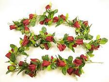172cm Fiori Artificiali Di Seta Rosso Scuro Rosa V. GYPSO Garland per Nozze Gazebo