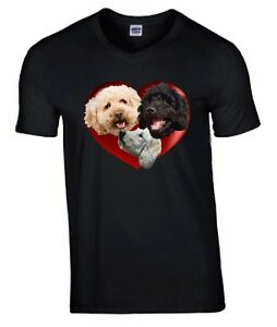 Labradoodles Heart Tshirt, T-shirt Crew or V Neck Birthday Gift Mothers Day Gift