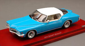 Buick-Riviera-1971-Light-Blue-W-White-Roof-1-43-Model-TRUE-SCALE-MINIATURES