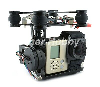 RTF Version 2-Axis Brushless Gimbal w/ BGC 3.12 Controller for Gopro 2 3 4 black