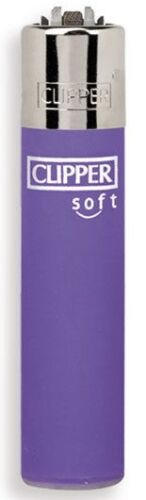 Clipper-super-lighter-gas-refillable-Micro-soft-touch-purple