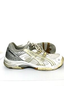 Asics-Gel-Rocket-Womens-Running-Shoes-Sneakers-Volleyball-White-Gray-Size-10