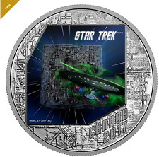 Star Trek™: The Borg - 1 oz. Pure Silver Coloured Coin (2017)