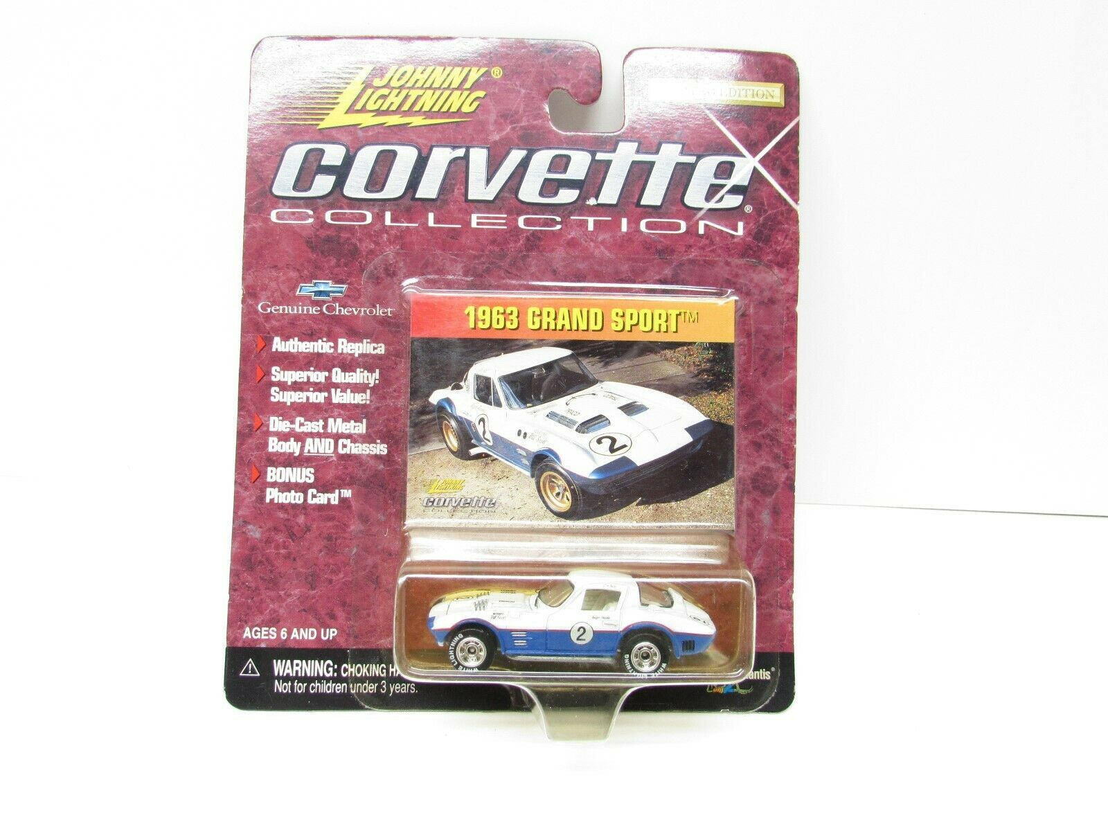 63 Grand Sport Corvette Collection With Weiß Lightning Tires Johnny Lightning