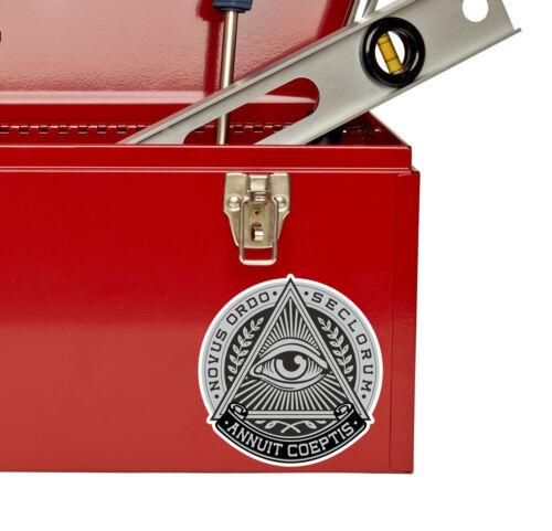 2 x All Seeing Eye of Providence Vinyl Sticker Mason Freemason Decal #4512//SV