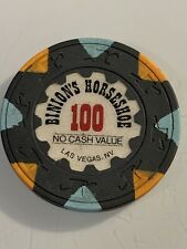 BINION'S HORSESHOE $100 NCV Casino Chip Las Vegas Nevada 3.99 Shipping