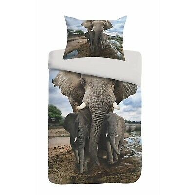 Kayori Bettwäsche Sognamo Mumba Bunt Elefanten Wildnis Stoßzahn Rüssel Kinder