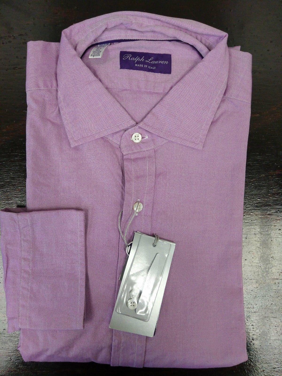 Ralph Lauren Purple Label Lavender Purple Cotton Dress Shirt Größe 16.5