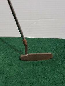 Left-Handed-Mens-Putter-Copper-Blade-Head-Golf-Club-Steel-Shaft-Rubber-Grip