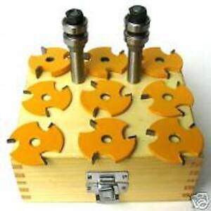11pc-1-2-034-Shank-Slot-Tongue-amp-Groove-Router-Bit-Set-S