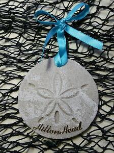 HILTON HEAD Sand Dollar Made with Sand Tropical Beach Ornament