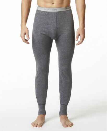Stanfield/'s Mens 2 Layer Cotton Thermal Long Johns Underwear Grey Size L NEW $55