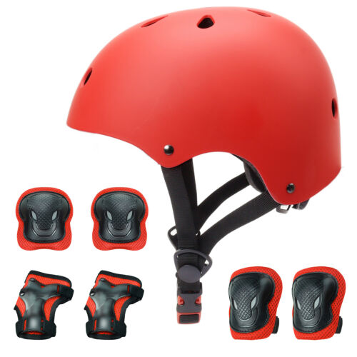 7PCS Protective Gear Set Kids Sport Bike Helmet Knee Elbow Wrist Pads Guards