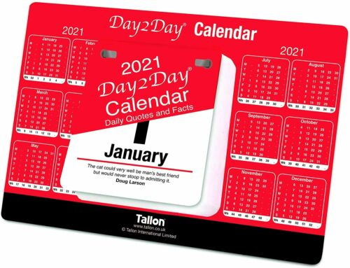 2021 Note Pad Desk Top Calendar Calender Planner Day Year To View Tear Off