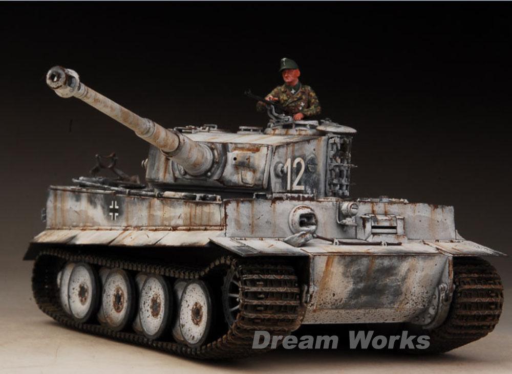 Award Winner Built Tamiya 1 35 Eastern Front Snow Tiger I +PE+Figure