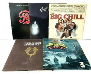 Lot of 5 Soundtracks Vinyl Record Albums Fame Jesus Christ Superstar Big Chill +